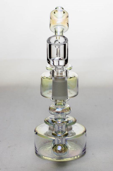 "7"" Metallic  Inline diffuser recycled rig with a banger - Bong outlet Canada"