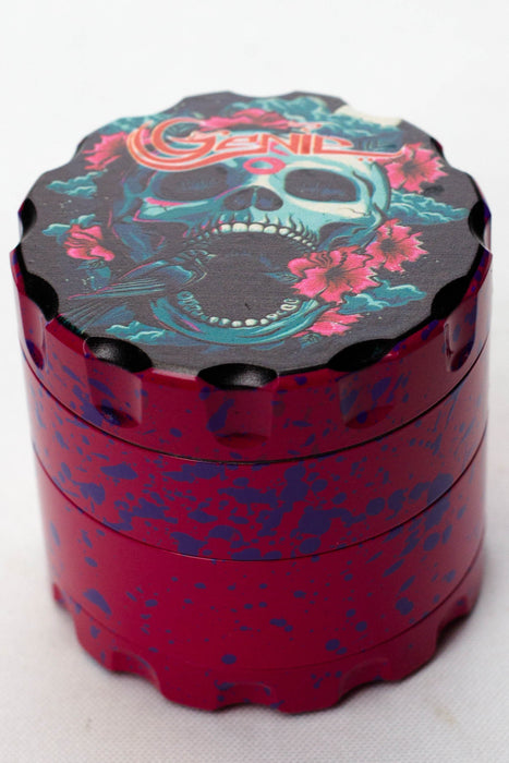 4 parts skull graphic printed large metal grinder - Bong outlet Canada