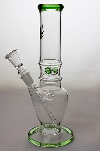 "10"" glass water pipe - Leaf - One wholesale Canada"
