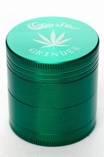 4 parts genie leaf laser etched small herb grinder - One wholesale Canada