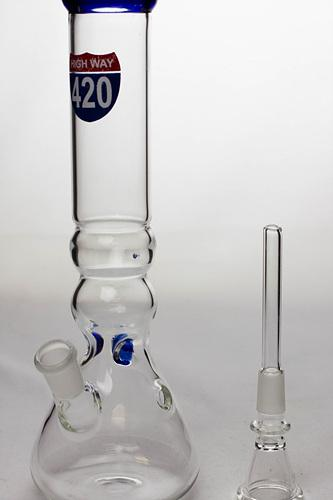 "10"" glass beaker water pipe - 420 - Bong outlet Canada"