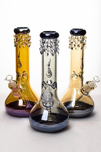 "12"" Genie Metallic 7 mm glass beaker bong - One wholesale Canada"