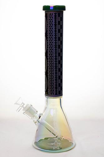 "15"" Genie 7mm Metallic beaker bong with honeycomb - One wholesale Canada"