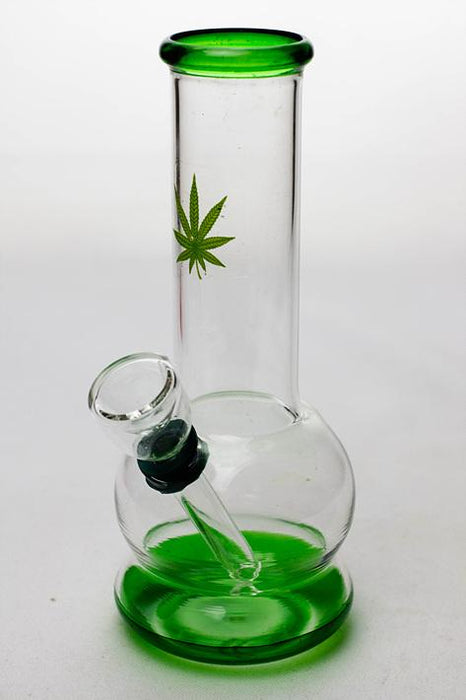 "6"" mini round glass water  bong - One wholesale Canada"