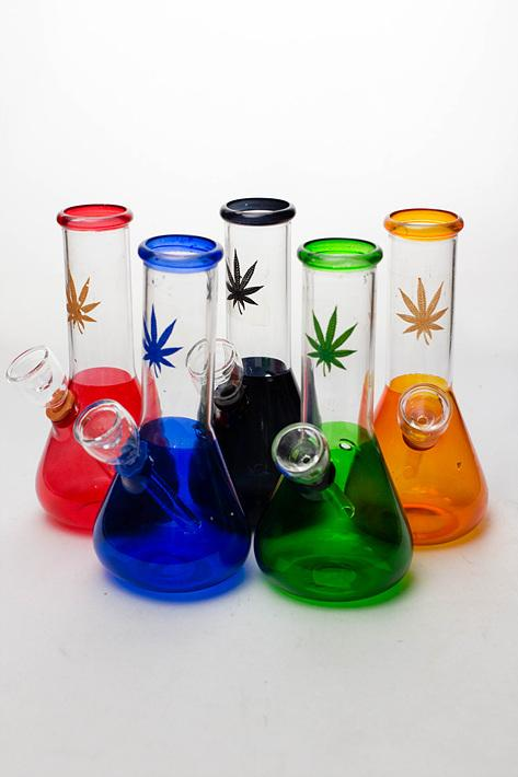"6"" mini beaker glass water  bong - One wholesale Canada"