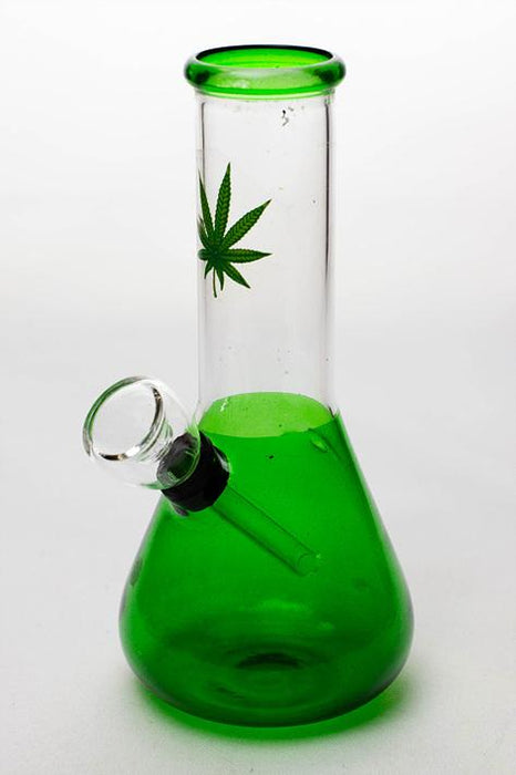 "6"" mini beaker glass water  bong - Bong outlet Canada"