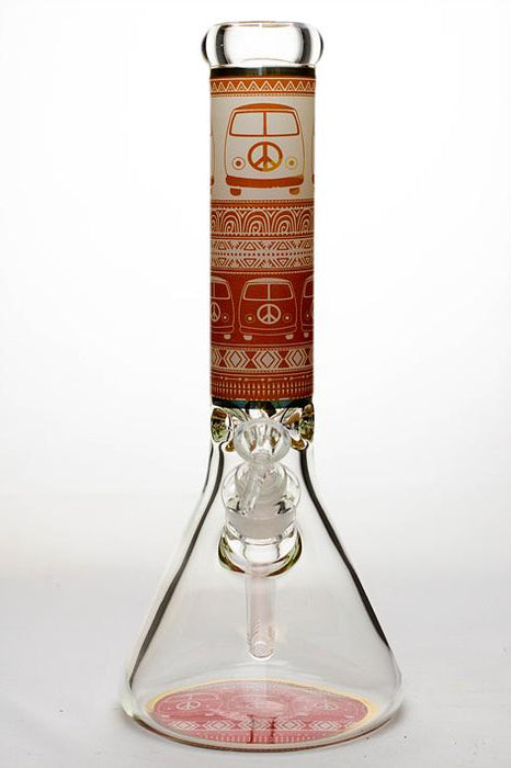 "13"" peace bus 9 mm classic beaker glass bong - Bong outlet Canada"