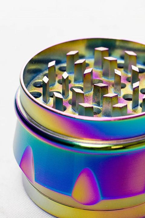 Genie 4 parts rainbow color herb grinder - One wholesale Canada