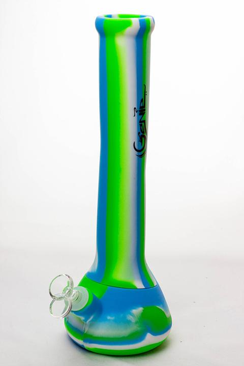 "13"" Genie mixed color Silicone detachable beaker water bong - One wholesale Canada"