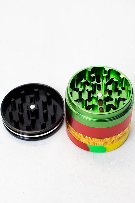 Infyniti 4 parts Aluminum Grinder w/silicone container - One wholesale Canada