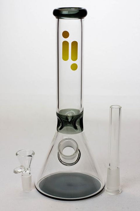 "10"" Infyniti color accented beaker glass water bong - One wholesale Canada"