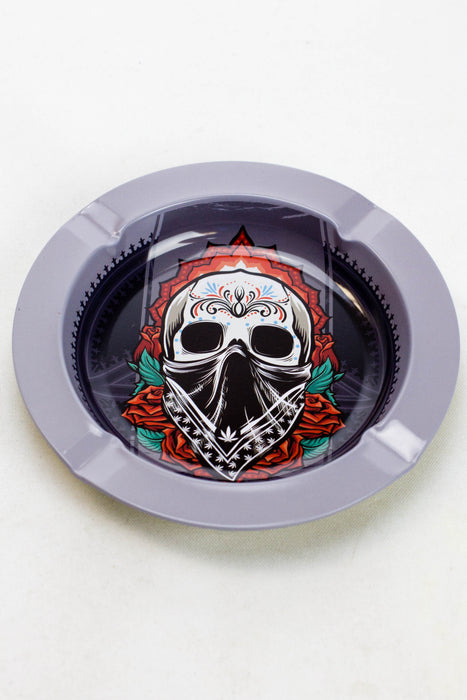 Smoke Arsenal round metal ashtray