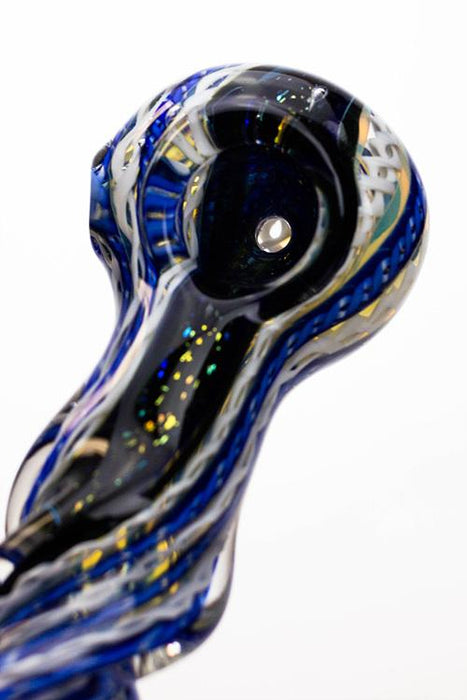 Heavy dichronic 6067 Glass Spoon Pipe