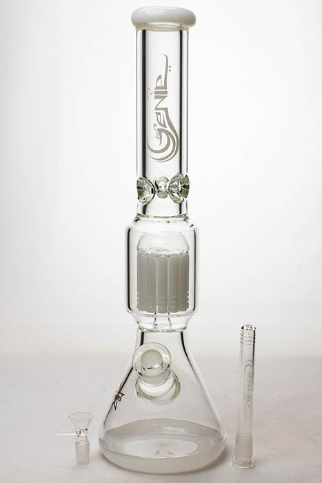 "17.5"" Genie 12-arm  9 mm colored bottom glass water bong"