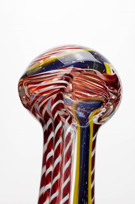 "3.5"" Heavy dichronic 6241 Glass Spoon Pipe"