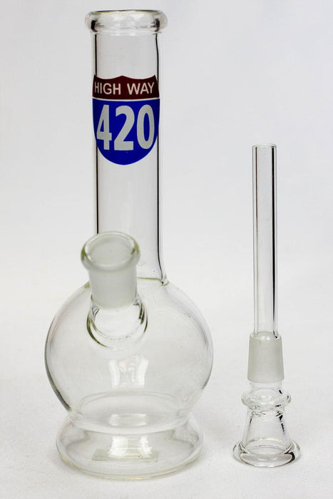 "7"" glass water bong M1042"