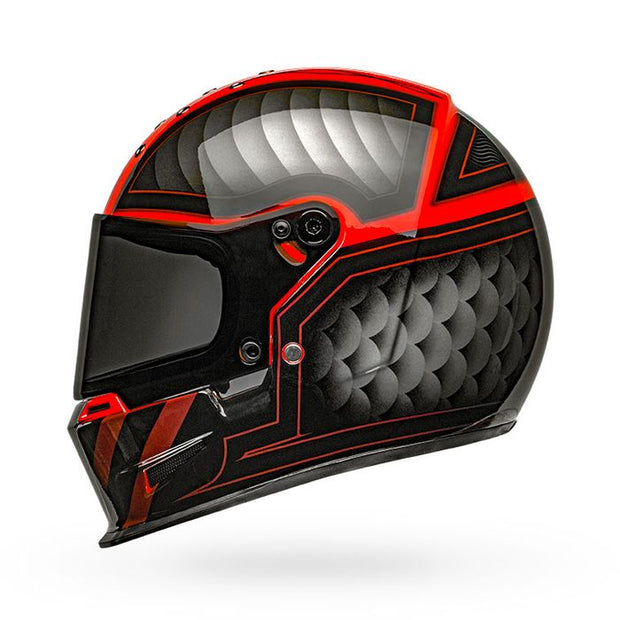 Bell Eliminator Outlaw Gloss Black Red Full Face Helmet