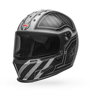 Bell Eliminator Outlaw Gloss Black White Full Face Helmet