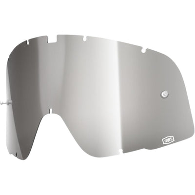 MIRROR SILVER REPLACEMENT LENS FOR 100% BARSTOW GOGGLES