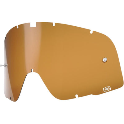 BRONZE REPLACEMENT LENS FOR 100% BARSTOW GOGGLES