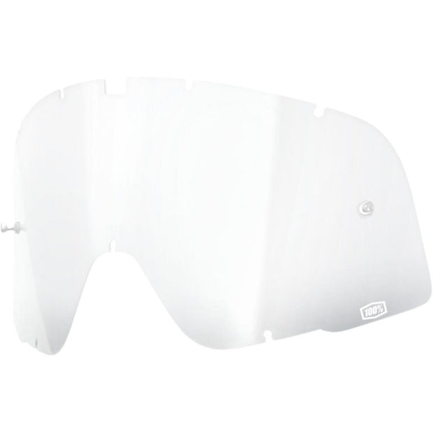 CLEAR REPLACEMENT LENS FOR 100% BARSTOW GOGGLES