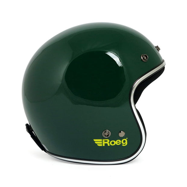 Roeg Jett Green Gloss Open Face Helmet