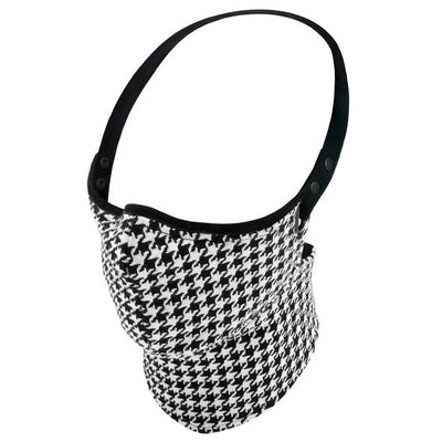 Rare Bird Black and White Houndstooth Face Mask