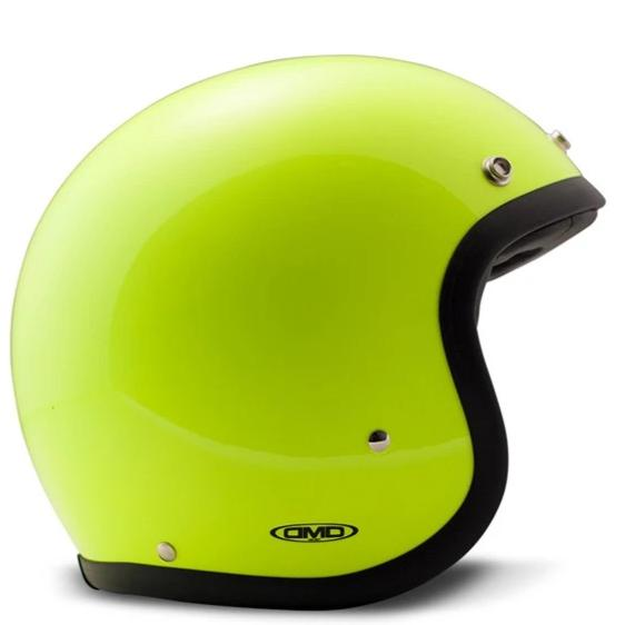 DMD Vintage Open Face Helmet Fluo Yellow