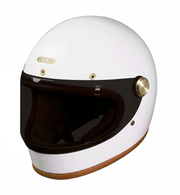Hedon Heroine Racer Full Face Helmet Knight White