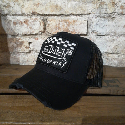 Von Dutch Square Black Cap
