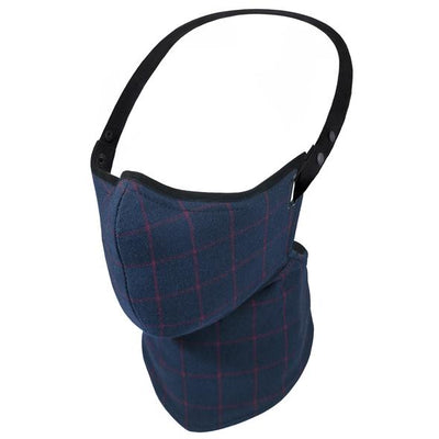 Rare Bird Navy Single Check Flannel Face Mask