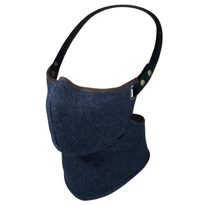 Rare Bird Navy Herringbone Tweed Face Mask