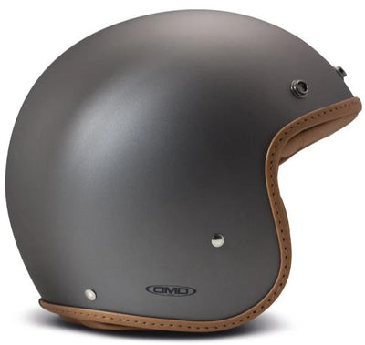DMD Pillow Matt Grey-Brown Open Face Helmet
