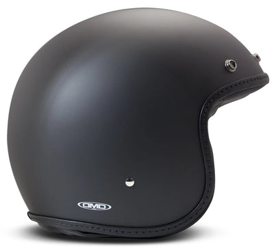DMD Pillow Matt Black-Black Open Face Helmet