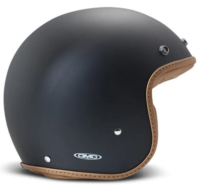 DMD Pillow Matt Black-Brown Open Face Helmet