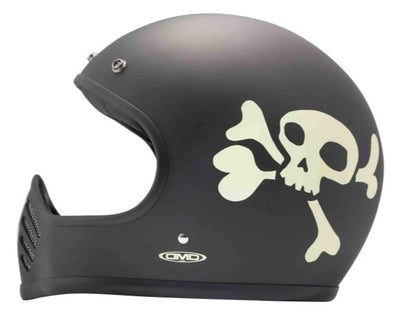 DMD Seventy Five Full Face Helmet Little Skull
