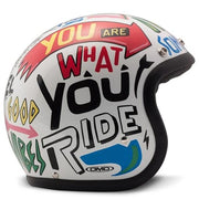 DMD Vintage Open Face Helmet Words