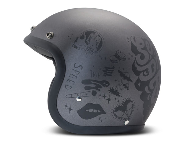 DMD Vintage Open Face Helmet You Rock