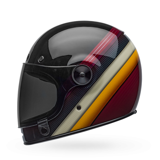 Bell Bullitt Gloss Burnout Gloss Black White Maroon Full Face Helmet