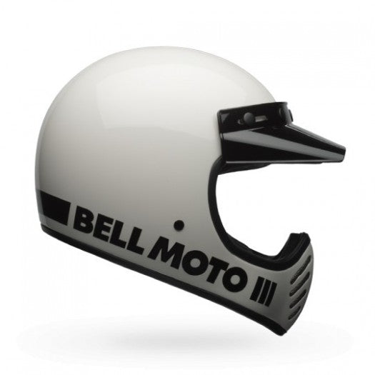 Bell Moto 3 White Full Face Helmet