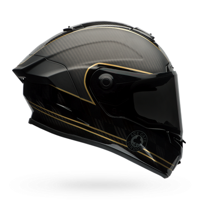 Bell Racer Star Flex Full Face Helmet Ace Cafe Matt Black Gold
