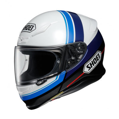 Shoei NXR Philosopher TC2 Black White Blue Full Face Helmet