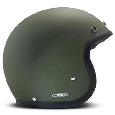 DMD Vintage Open Face Helmet Matt Green