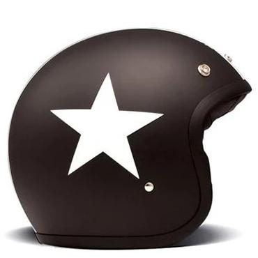 DMD Vintage Open Face Helmet Star Black