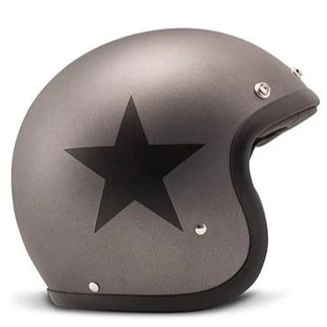 DMD Vintage Open Face Helmet Star Grey