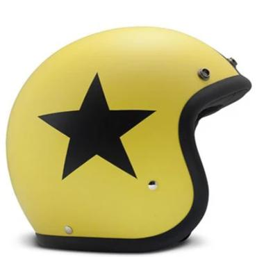 DMD Vintage Open Face Helmet Star Yellow