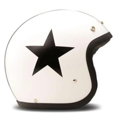 DMD Vintage Open Face Helmet Star White