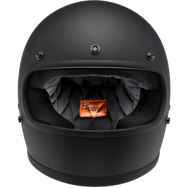 Biltwell Gringo ECE Approved Full Face Helmet - Flat Black