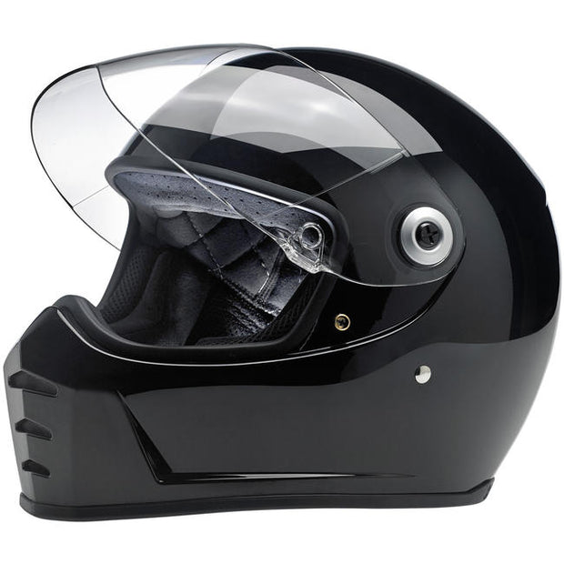 Biltwell Lane Splitter Full Face Helmet Gloss Black