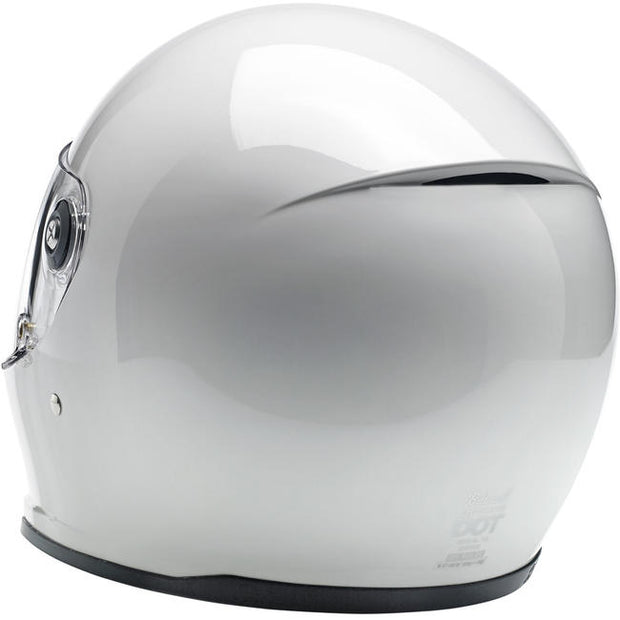 Biltwell Lane Splitter Full Face Helmet Gloss White